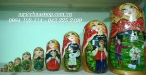 Búp bê Nga matryoshka (Loại 10 con)