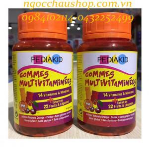 Kẹo Pediakid Gommes Multivitamins 60 viên dành cho bé từ 3 tuổi