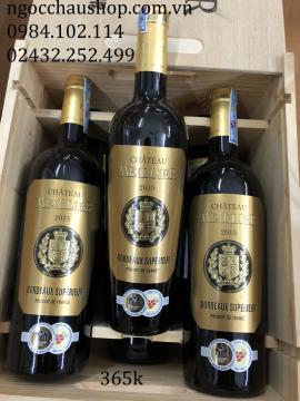 Rượu vang Chateau Meillier Bordeaux Superieur Rouge