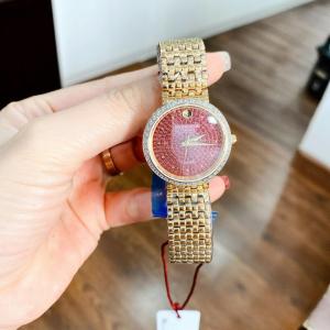 Đồng hồ nữ chính hãng Sunrise bản Gold mặt tím đỏ - hàng order